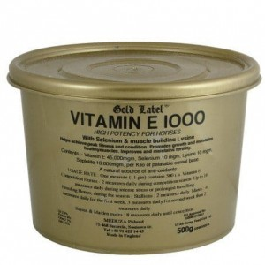Vitamin E 1000 Gold Label, witamina E+selen 500 g
